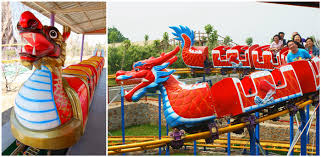 kids dragon-themed roller coaster